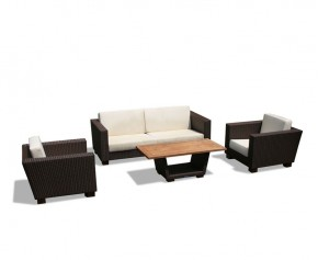 Sorrento Wicker Rattan Sofa Set with Coffee Table - Sorrento