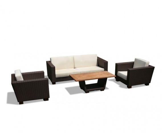 Sorrento Wicker Rattan Sofa Set with Coffee Table