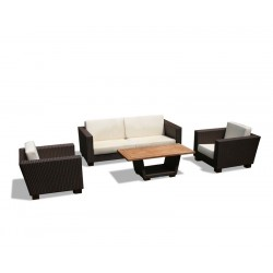 Sorrento Wicker Rattan Sofa Set with Coffee Table
