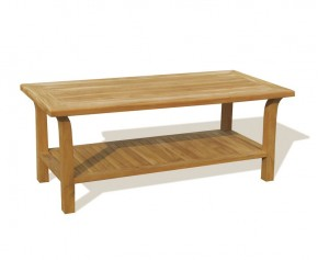 Teak Outdoor Open Shelf 5ft Coffee Table - Fixed Tables
