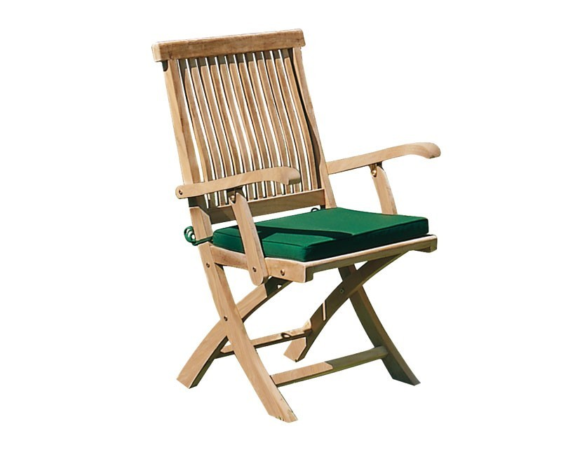 Folding Outdoor Chair Cushion With Ties