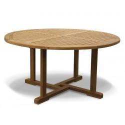 Canfield Teak Circular Garden Table-150cm
