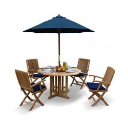 Berrington Garden Octagonal Gateleg Table and Arm Chairs Set