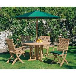 Berrington Garden Gateleg Table and Arm Chairs Set - Patio Outdoor Teak Dining Set