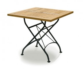 Square Bistro Folding Table 80cm | Teak Wood - Bistro Tables