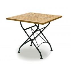 Square Bistro Folding Table 80cm | Teak Wood