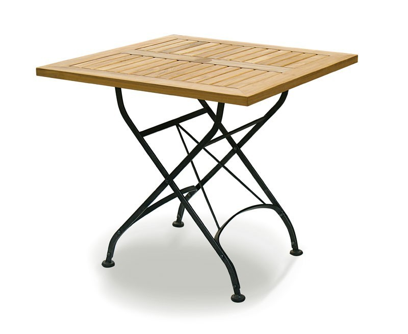 Gt all garden tables gt square bistro folding table 80cm teak wood