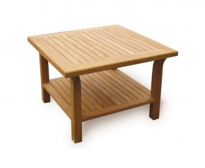Square 3ft Outdoor Coffee Table, Teak - Fixed Tables
