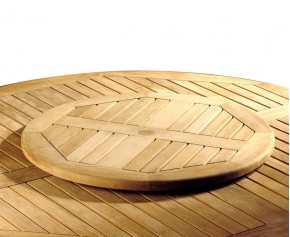 Teak 80cm Lazy Susan - Garden Accessories