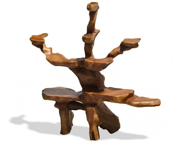 Teak Root Display Stand