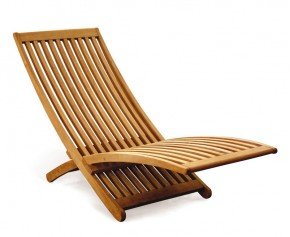 Chelsea Modern Teak Lounger - Teak Garden Furniture Sale