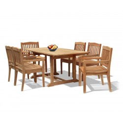 Hilgrove 6 Seater Garden Rectangular Dining Table and Chairs Set 2