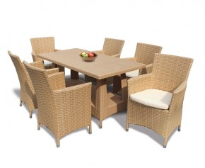 Riviera Poly Rattan 6 Seater Dining Set - Patio Chairs