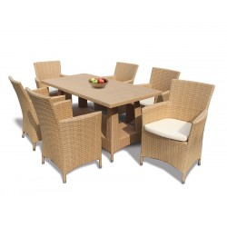 Riviera Poly Rattan 6 Seater Dining Set
