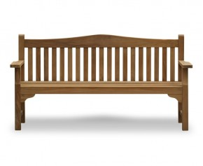 Tribute 6ft Teak Commemorative Memorial Bench - Large Garden Benches