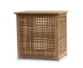 Tango Large Teak Storage Box - Large - Garden Storage Boxes