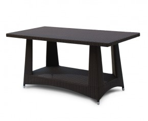 Riviera Rattan Dining Table - 1.6 x 0.8m - Rattan Tables