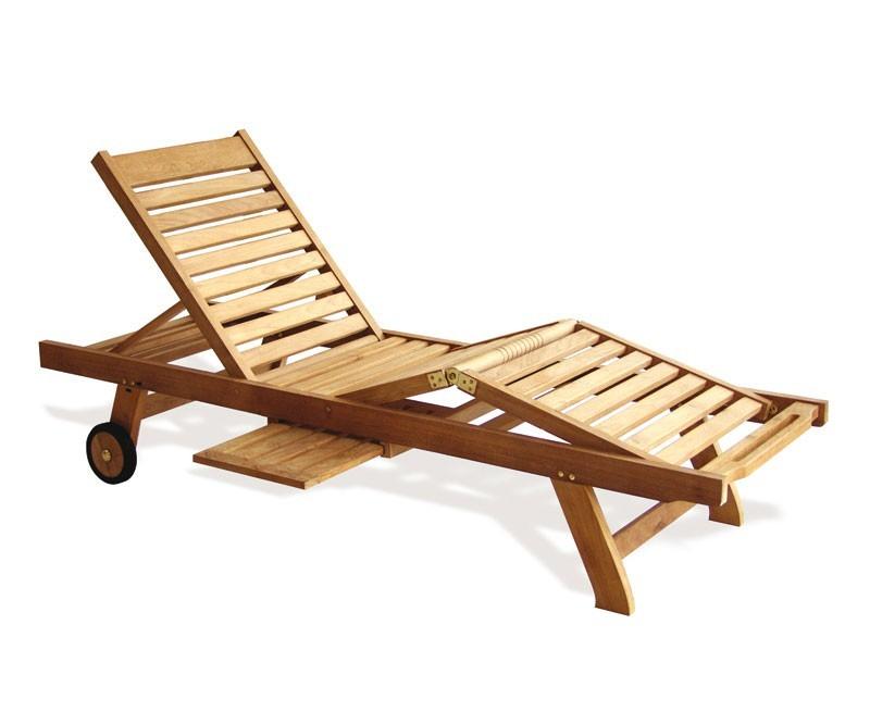 Luxury Teak Sun Lounger With Cushion