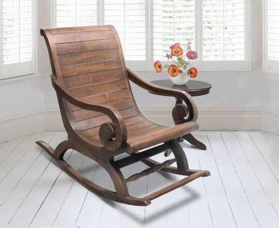 Capri Teak Rocking Plantation Chair