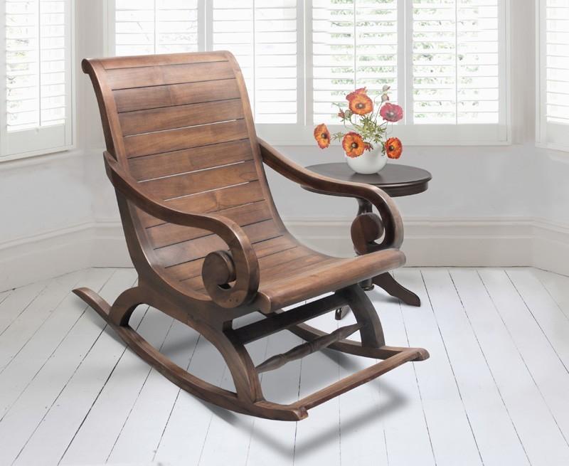 Capri Teak Rocking Plantation Chair