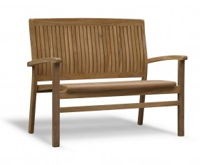 Bali Teak 2 Seater Stacking Bench - Small Garden Benches