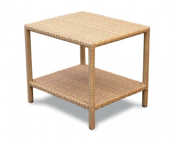 Riviera Rattan Garden Side Table - 60cm