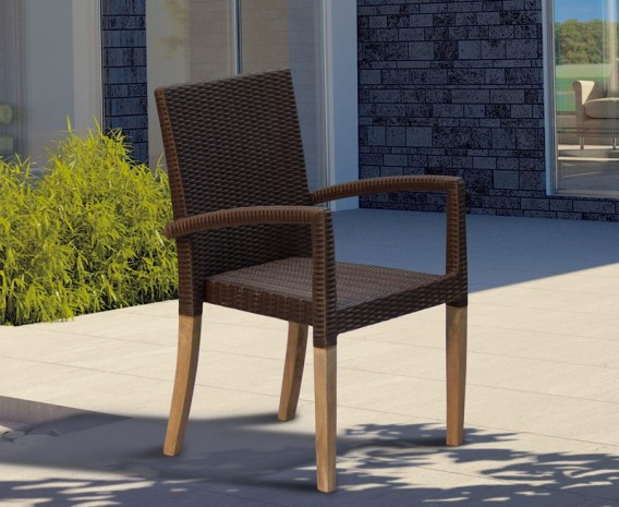 St Tropez Rattan Garden Stacking Chair