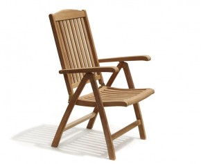 Cheltenham Teak Garden Reclining Chair - Folding Chairs