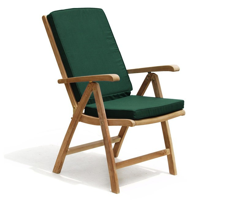 cheltenham teak garden recliner armchair separate footstool