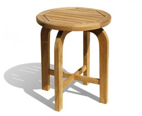 Capri Teak Round Occasional Garden Table - Fixed Tables