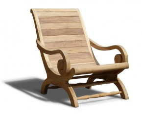 Capri Planters Lazy Chair, Reclaimed Teak - Patio Chairs