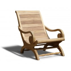 Capri Planters Lazy Chair, Reclaimed Teak