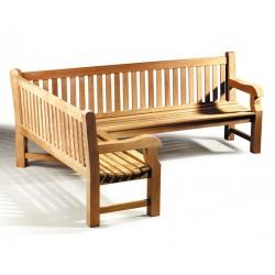 Balmoral Teak Wooden Corner Garden Bench (Left Orientation)