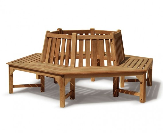 Teak Hexagonal Tree Bench