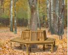Teak Hexagonal Tree Bench
