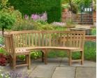 Henley Teak Curved Garden Bench