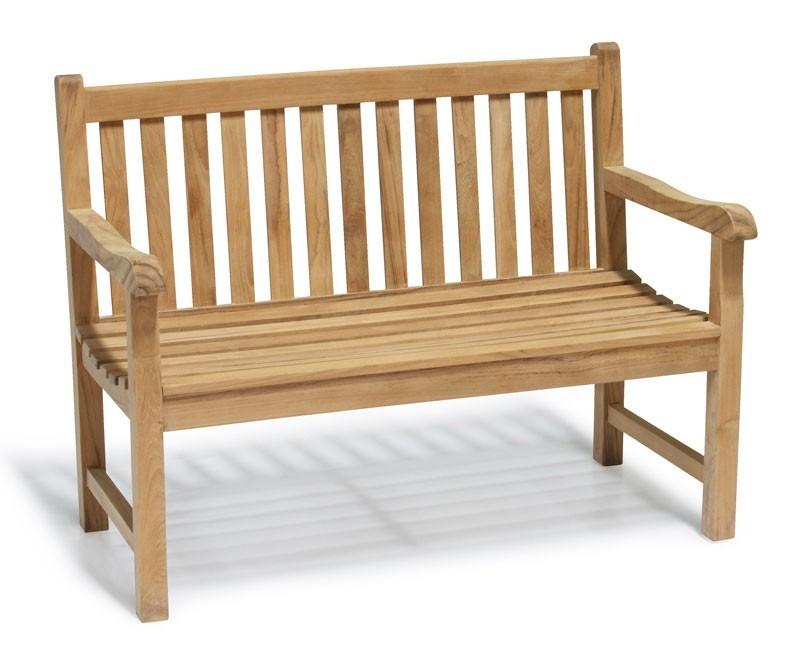 Windsor teak 4ft garden bench small outdoor bench for Small garden bench