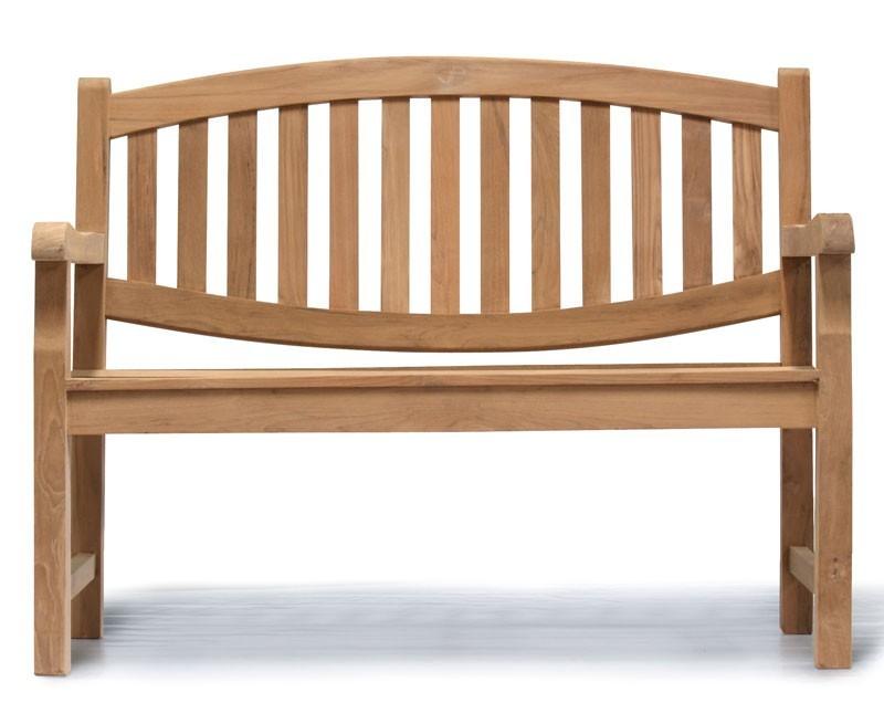 Ascot Teak 2 Seater Garden Bench Small Garden Seat