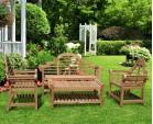 Teak Lutyens Bench and Table Set - 1.65m