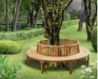 Round Teak Tree Seat, Large - 2.96m