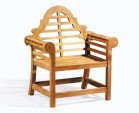 Lutyens Teak Bench, Table and Chairs Set with Cushions 1.65m