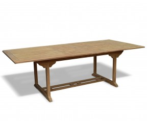 Dorchester Teak Rectangular Extending Garden Table 1.8m - 2.4m x 1.1m - 10 Seater Dining Tables
