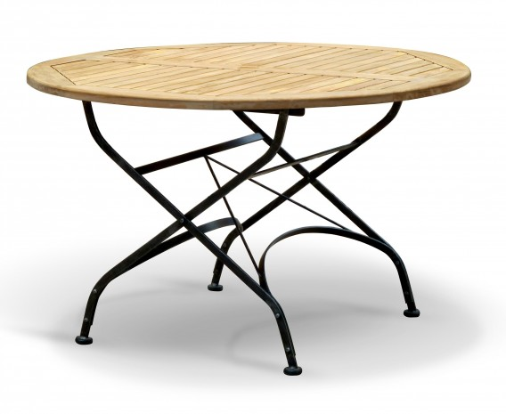 Bistro Folding Table | Teak Round - 120cm