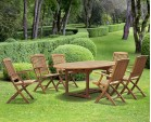 Brompton Teak Extendable Garden Table and Chairs