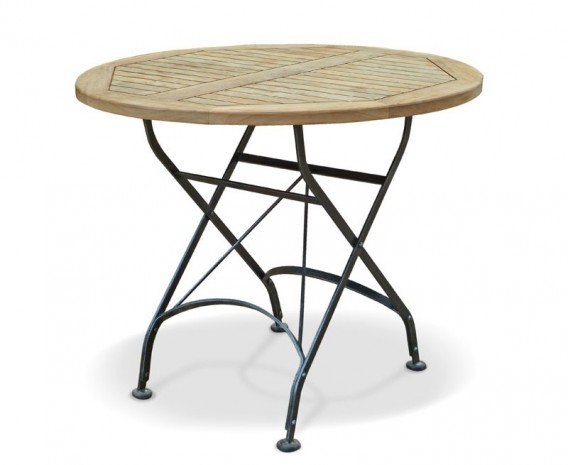 Bistro Round Folding Table | Teak Wood 90 cm