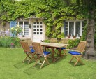 Hilgrove Teak 1.8m Rectangular Garden Table and 6 Folding Chairs Set