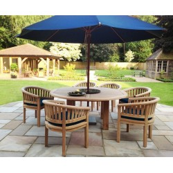 Titan Robust Round 6 Seater Patio Dining Set