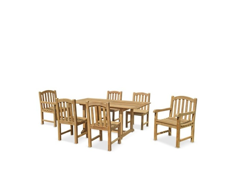 Teak 5ft Garden Dining Table and 6 Clivedon Chairs Set : teak 5ft garden dining table and 6 chairs from www.corido.co.uk size 800 x 655 jpeg 32kB