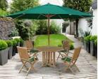 Berrington Garden Octagonal Table and Brompton Armchairs