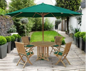 Berrington Garden Octagonal Table and Brompton Armchairs - Brompton Dining Set